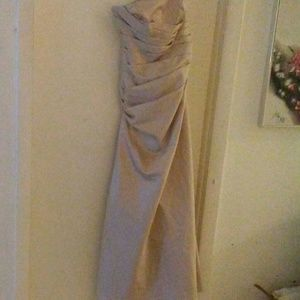 Gown with pleats